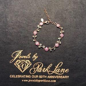 Park Lane Copper Pink and Green Flower Bracelet